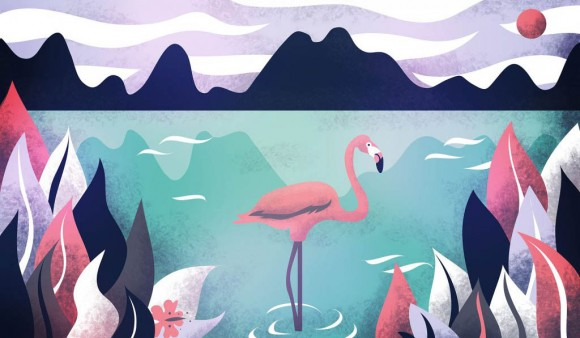 Flamingo Paradise wallpaper