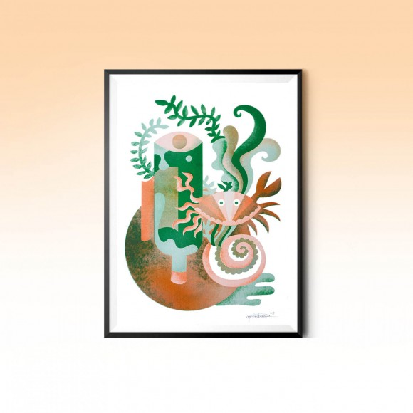 Riso print: Water