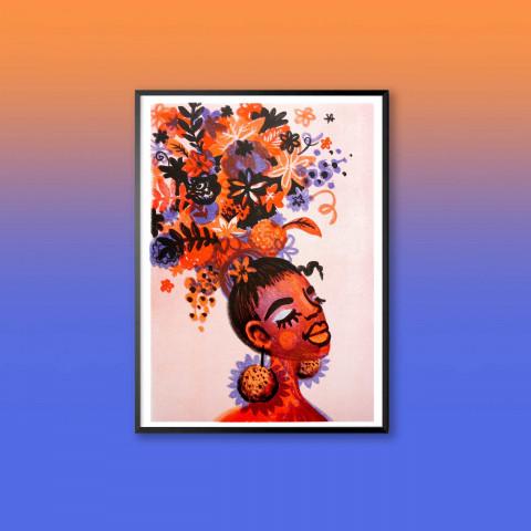 Risoprint: Flower Girl